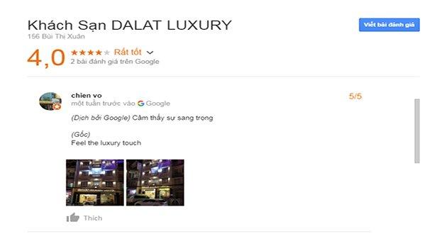 Đánh Giá Khách Sạn Luxury Đà Lạt