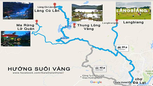 Bản Đồ Hướng Dẫn Đường Đến Núi Langbiang